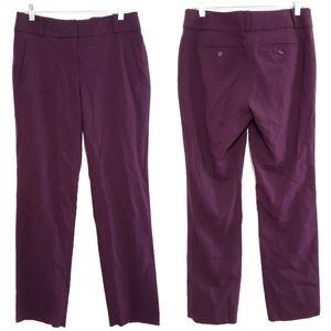 Loft Julie Straight Leg Plum Dress Pant Size 6
